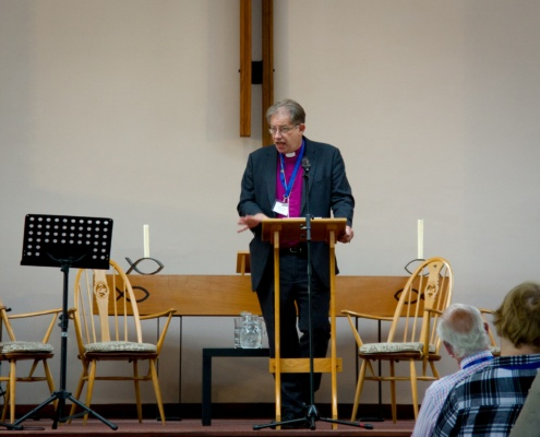 Bishop Steven addressing diocesan synod