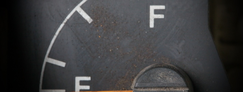 Time for divestment. Image of an empty fuel guage