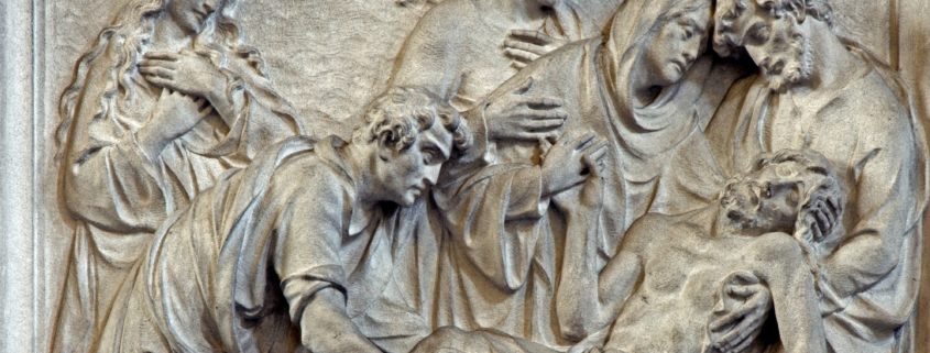Relief carving of Jesus