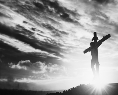 Crucifixion and sunlight